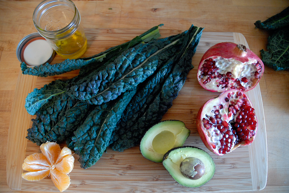 Ingredients for Christmas Kale Salad. Photo: Wendy Goodfriend