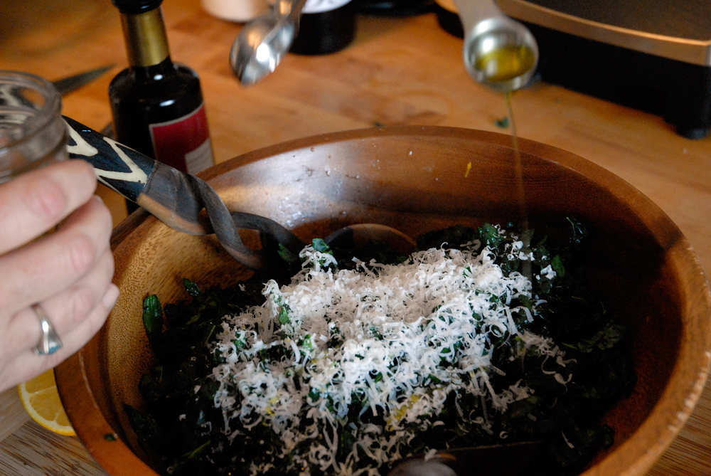 Add the teaspoon of olive oil. Photo: Wendy Goodfriend