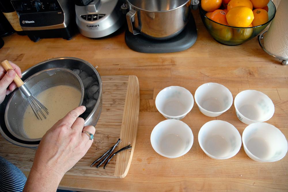 Remove the vanilla bean pod. Photo: Wendy Goodfriend