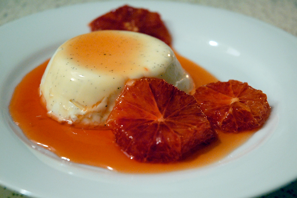 Vanilla Panna Cotta with Caramelized Blood Oranges. Photo: Wendy Goodfriend