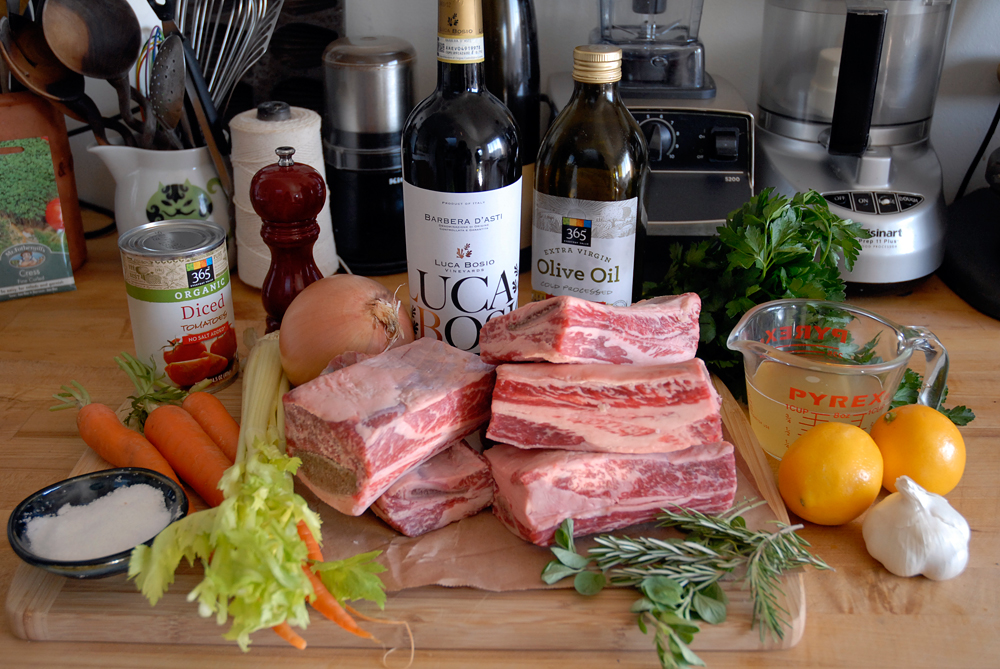 Braised Shortribs ingredients. Photo: Wendy Goodfriend