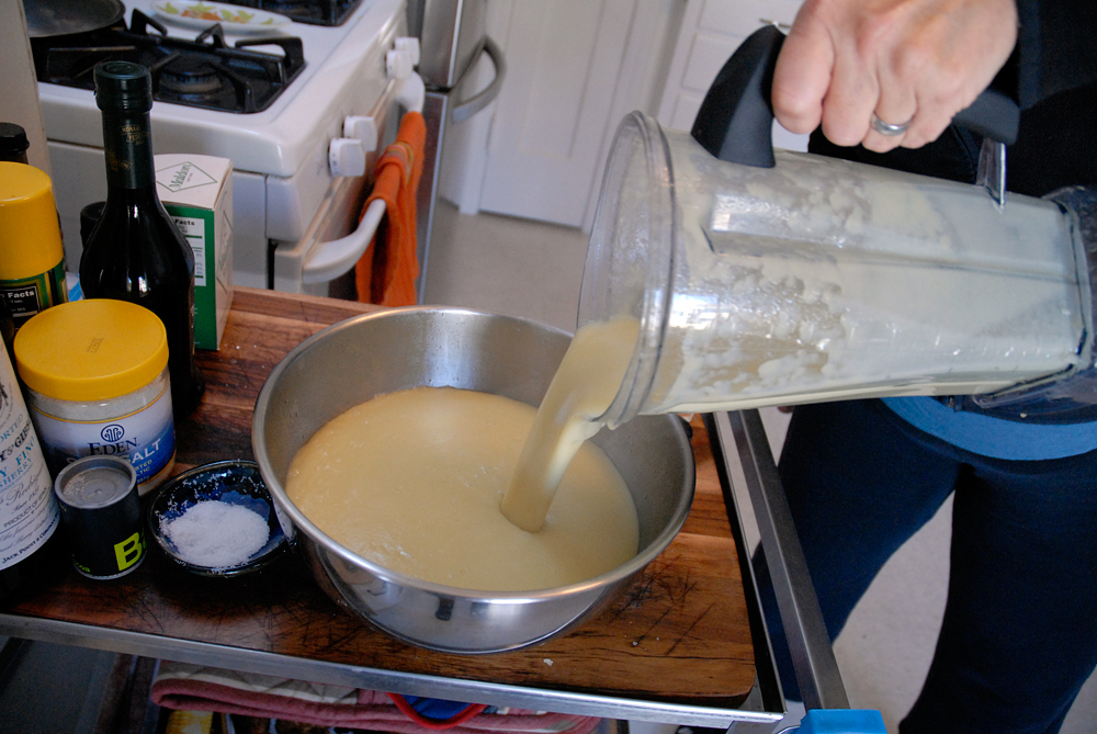 Pour pureed batches in a bowl. Photo: Wendy Goodfriend