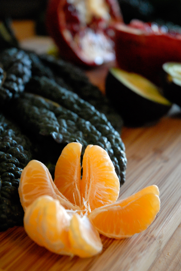 Tangerine, Kale, Avocado and Pomegranate. Photo: Wendy Goodfriend