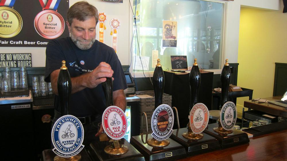 Freewheel Brewery's Larry Bucka. Photos by Jenny Oh/KQED