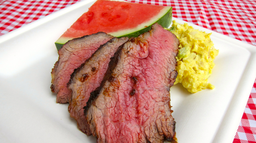 Grilled tri-tip platter. Photos by Jenny Oh/KQED