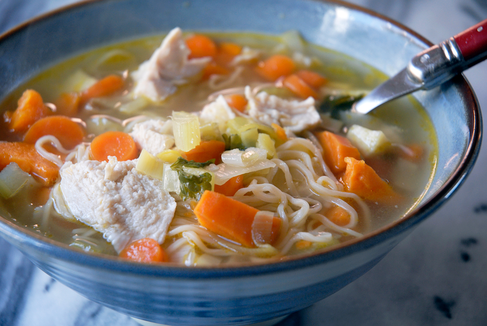 Chicken soup with egg noodles. Photo: Wendy Goodfriend