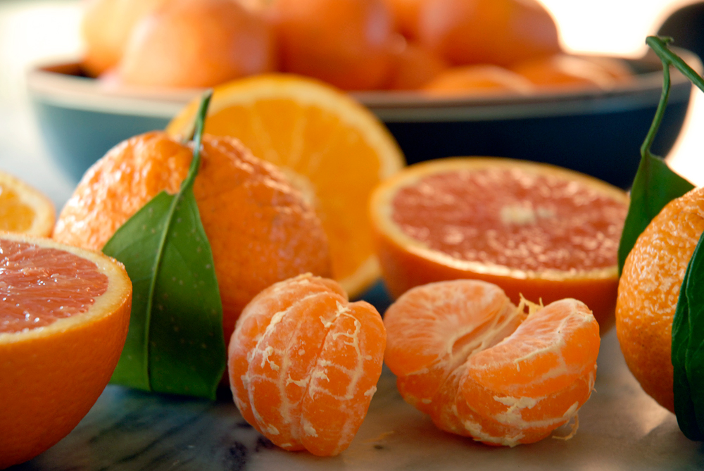 Tangerines, Cara cara and navel oranges. Photo: Wendy Goodfriend