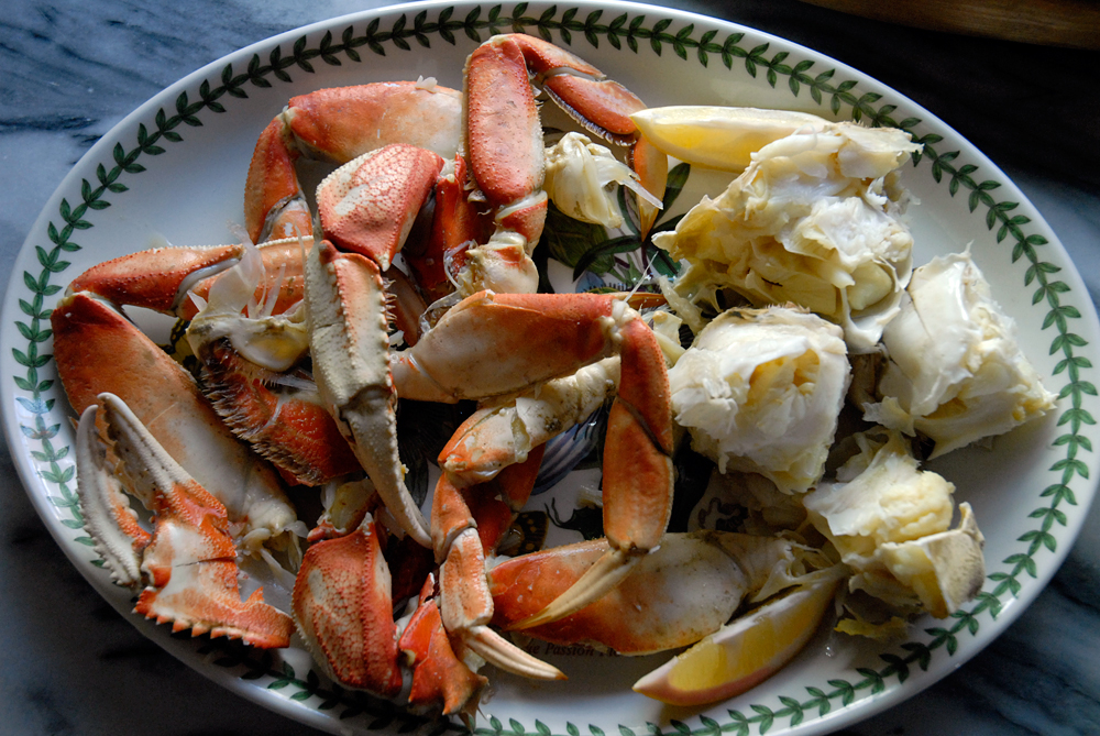 Cooked, cleaned, cracked whole fresh crab. Photo: Wendy Goodfriend