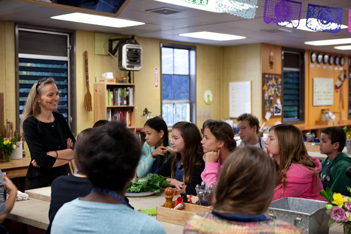 Esther Cook has been the lead cooking teacher at the Edible Schoolyard since it opened, 17 years ago. Photo: Erin Scott