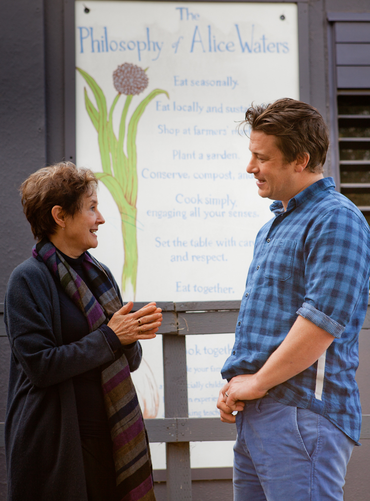 Alice Waters and Jamie Oliver welcome the opportunity to collaborate more closely. Photo: Erin Scott