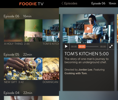 FoodieTV offers short programs about food and travel for the casual, interested viewer. Photo: FoodieTV