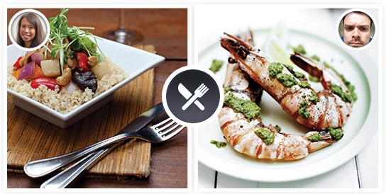 FoodieQuest lets you pit your food photos against your friends' food photos and earn votes. Photo: FoodieQuest