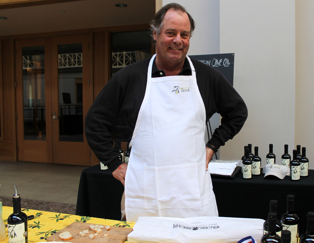 Jeff Martin, of Frantoio Grove, won for his single varietal oil made from Frantoio olives. His oil is unique in the sea of Spanish-style oils currently popular in the state. Photo: Kate Williams