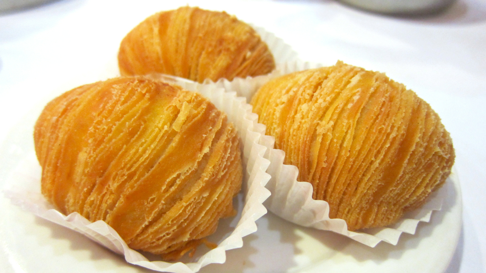 Fried Sweet Durian Puff at East Ocean Seafood Restaurant