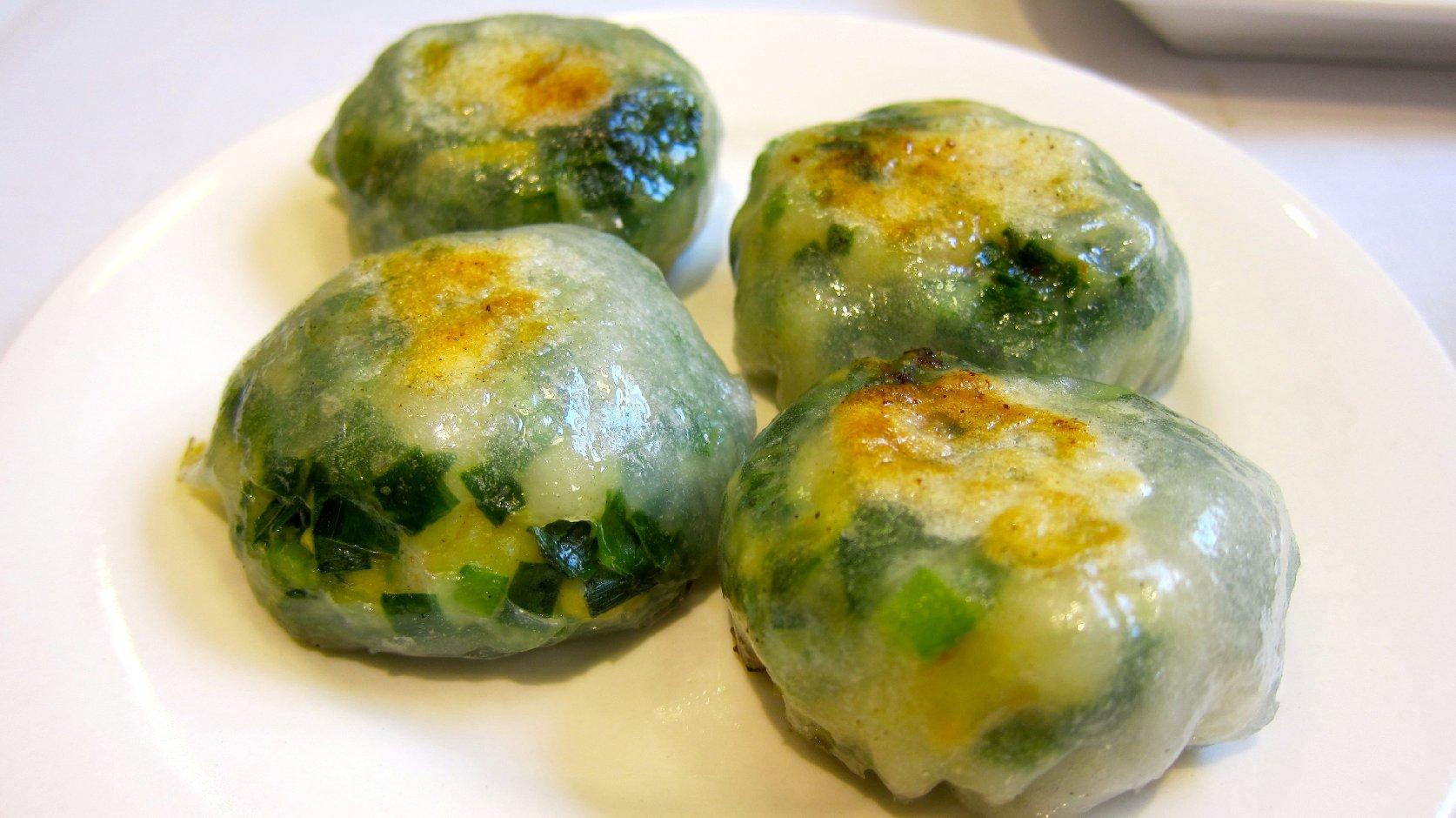 Pan-Fried Chive and Shrimp Dumplings