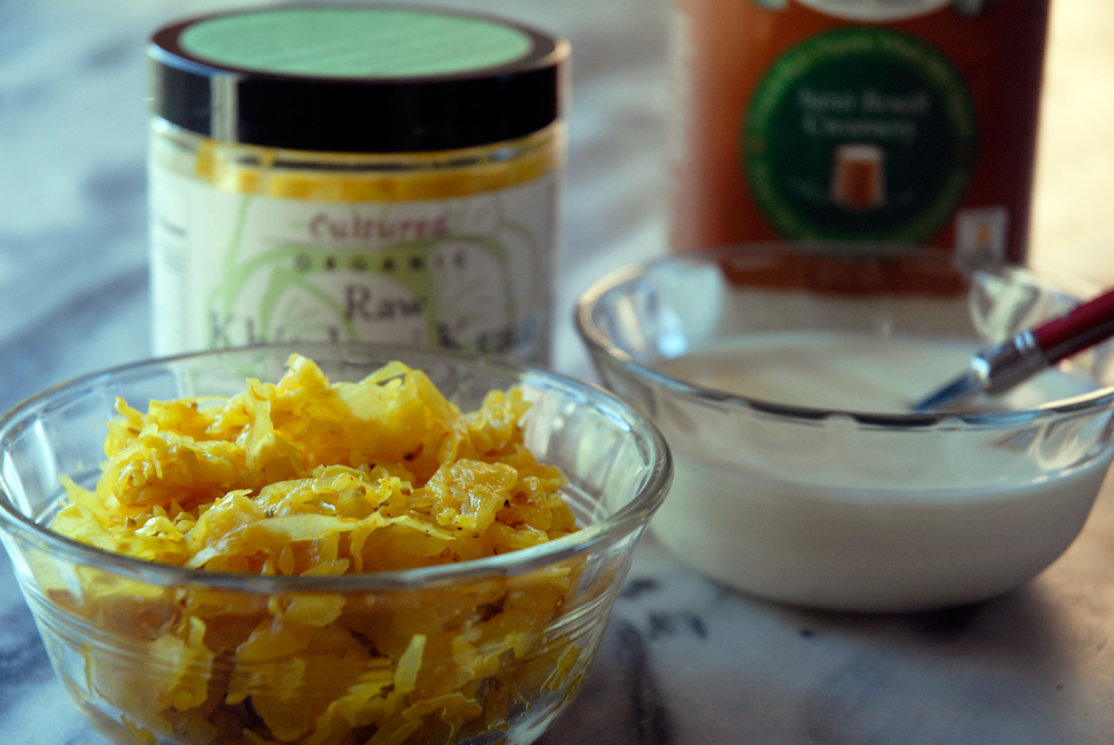 Raw Khitchari Kraut and organic yogurt. Photo: Wendy Goodfriend