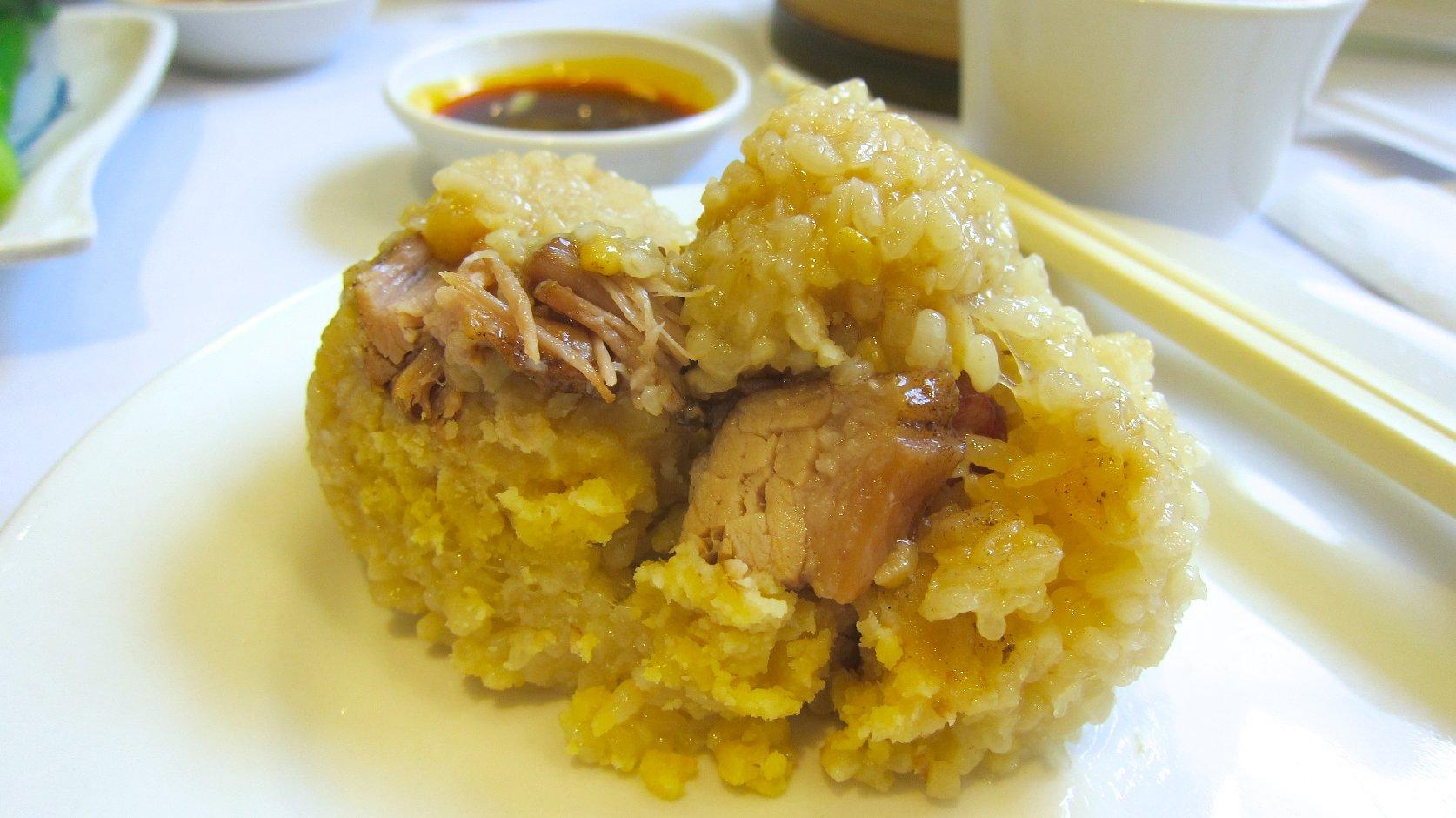 Sticky Rice with Roast Pork
