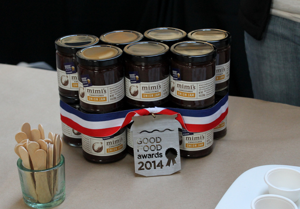 Mimi's Confitures' smoky-sweet onion jam won an award in the preserves category. Photo: Kate Williams