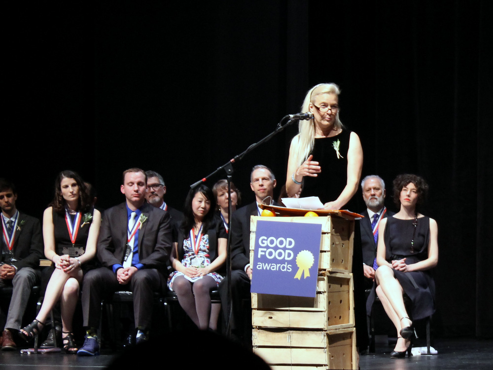Nell Newman was the keynote speaker at the Good Food Awards ceremony on Thursday, January 16. Photo: Kate Williams