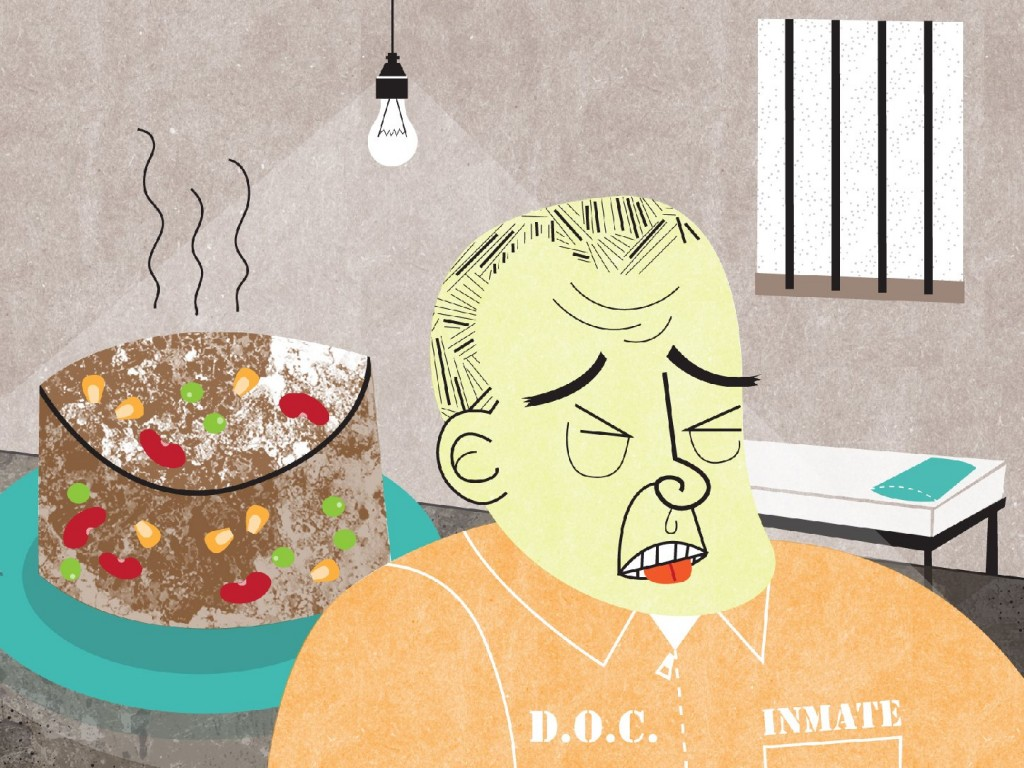 Illustration of a prison loaf by Lisa Brown for NPR