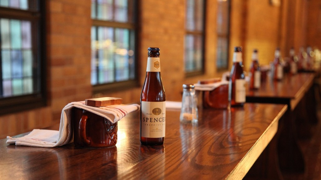 Spencer Trappist Ale, made by the first official Trappist brewery outside Europe, will go on sale next week in Massachusetts. Photo: Nick Hiller/The Spencer Brewery