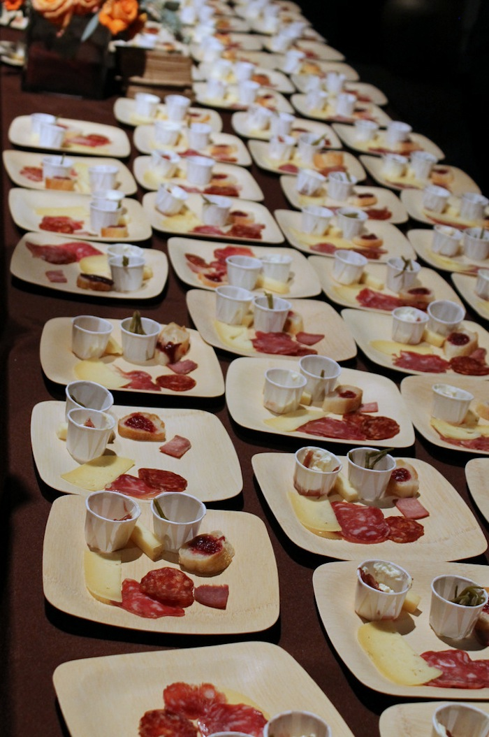 Winners from the Western region were available for tasting at the gala and included Fra'Mani's Salame Calabrese, Bellwether Farm's Ricotta, Point Reyes Farmstead's Toma, Wine Forest's Pickled Sea Beans, and Mimi's Confitures' Onion Jam. Photo: Kate Williams