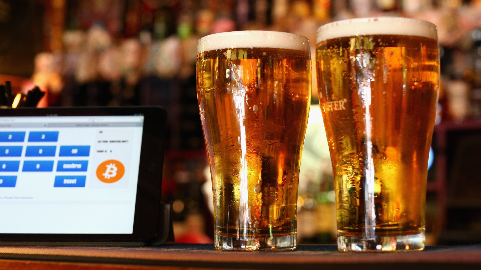 Bitcoin isn't just for shady business — it can also buy you some delicious goodness. The Old Fitzroy pub in Sydney, Australia, is one of many food and drink businesses beginning to accept Bitcoin as a valid method of payment. Photo: Cameron Spencer/Getty Images