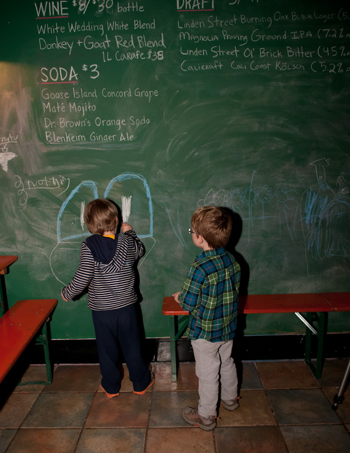 PizzaHacker's Chalkboard menu is kid-friendly. Photo: Naomi Fiss