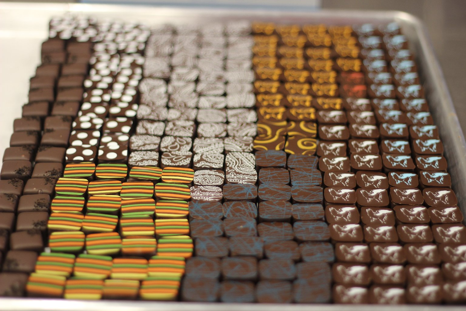 A tray of chocolates from Socola Chocolatier. Photo: Momo Chang