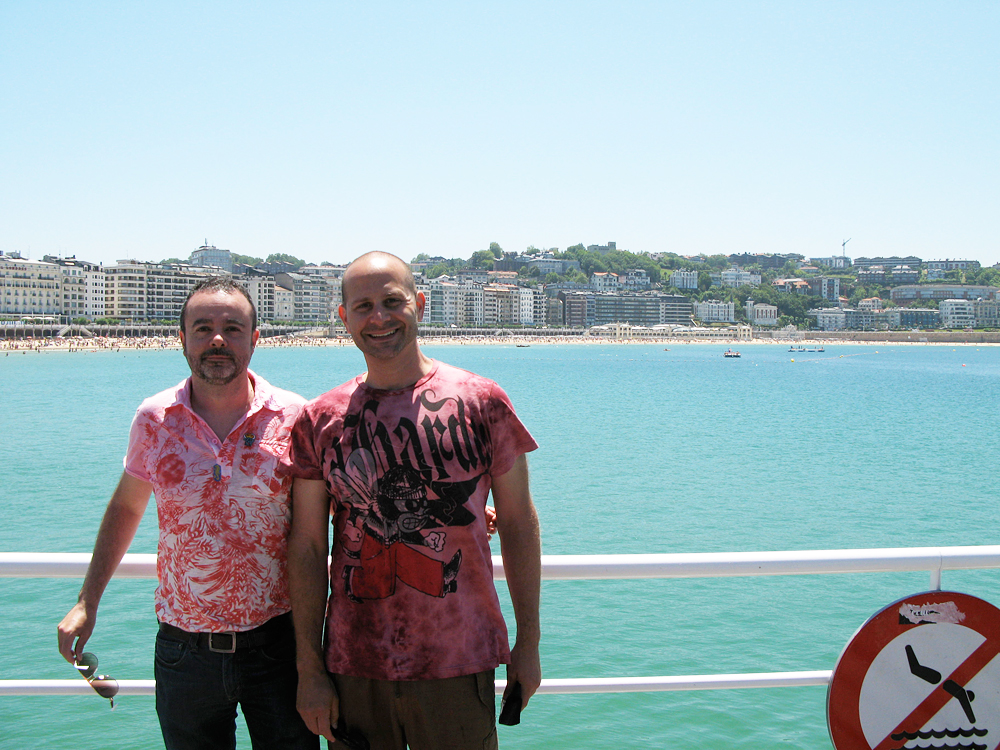 Paco and Mat in San Sebastián, Spain. Photo courtesy of Canela
