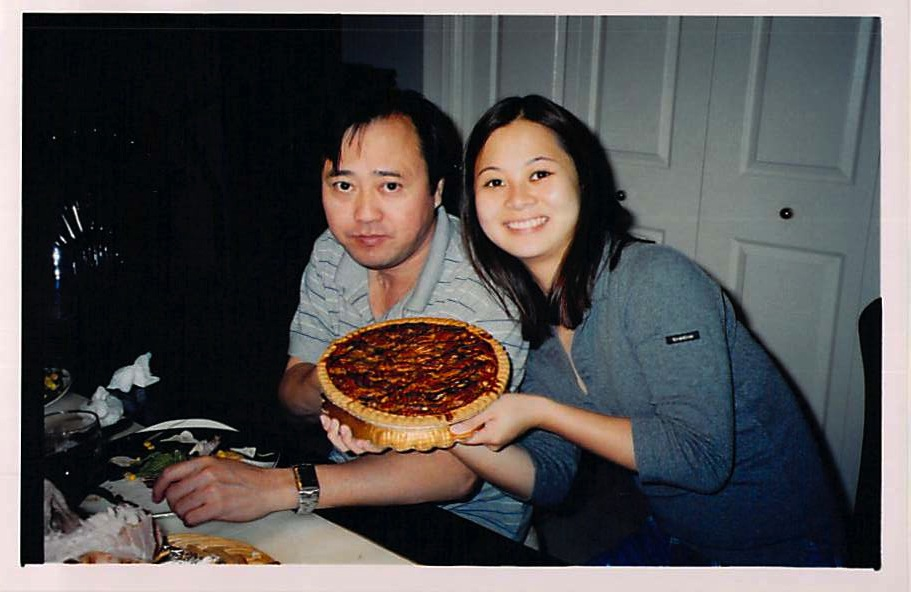 Wendy with her father, Tom Lieu. Photo courtesy of Wendy Lieu