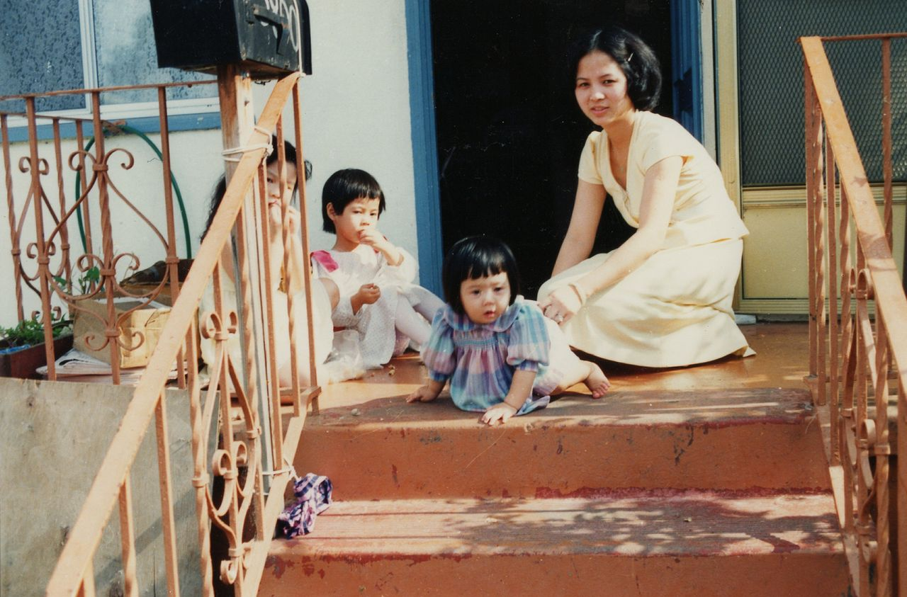 Wendy and Susan with their late mother, Jennifer Ha, in El Cerrito circa 1986. Photo courtesy of Wendy Lieu