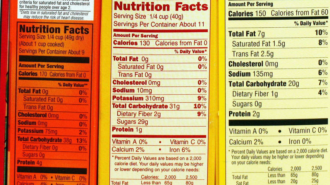 Nutrition labels will be getting a makeover this week to make it easier for consumers to understand the information. Photo: Larry Crowne/AP