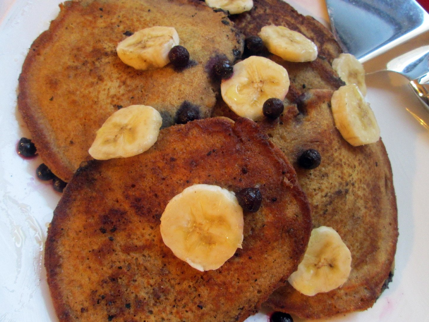 Whole Wheat Blueberry Banana Pancakes. Photo: Laura B. Weiss/NPR