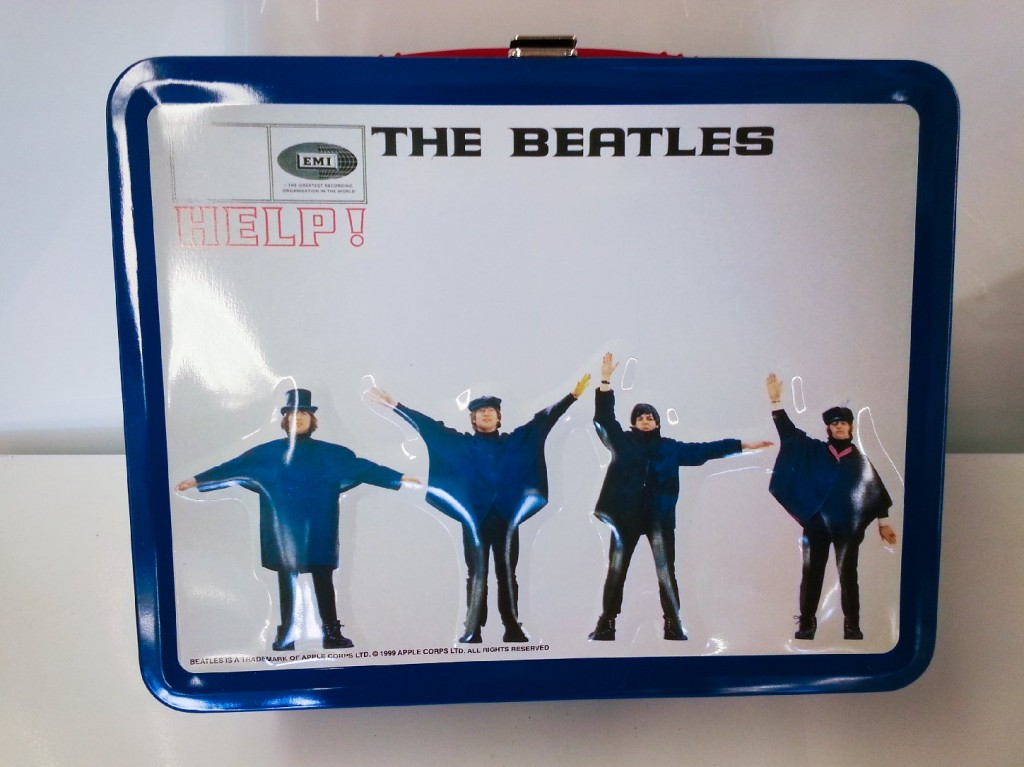 While an original Beatles lunchbox will cost you hundreds of dollars, fans can pick up a version made in the '90s or later in the $10-$25 range. Here's one based on the 1965 album Help! It's being sold on eBay as part of a set of 13 lunchboxes, each based on a different Beatles album cover. Photo: mrapp123/eBay