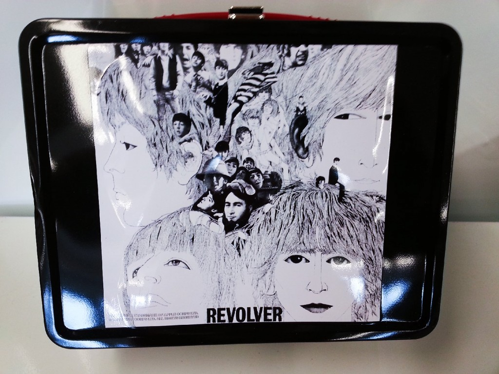 The Beatle's 1966 album Revolver is depicted on a retro-style, modern metal lunchbox. Photo: mrapp123/eBay