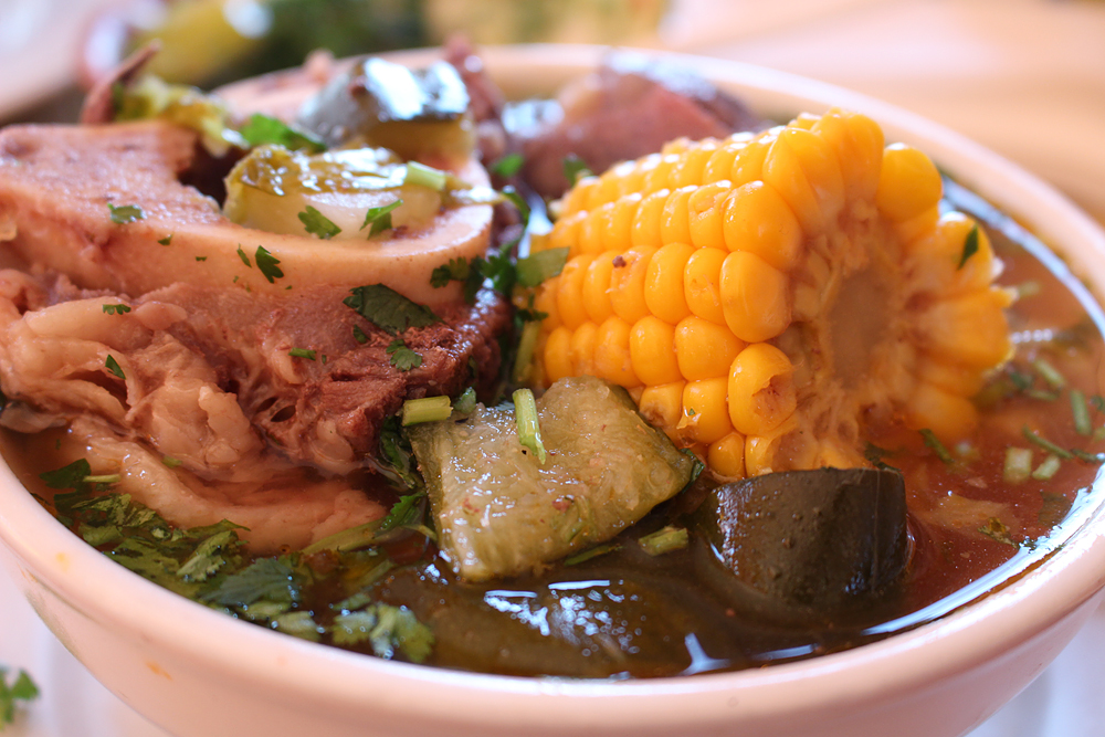 Gallardos caldo de res (beef soup). Photo: Wendy Goodfriend