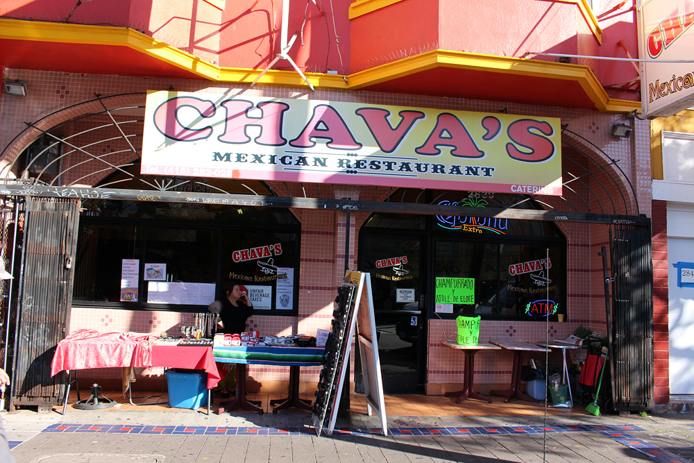 Chava's exterior signage. Photo: Wendy Goodfriend