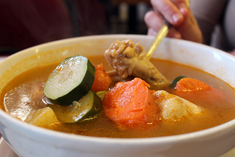 Chava's caldo de pollo. Photo: Wendy Goodfriend