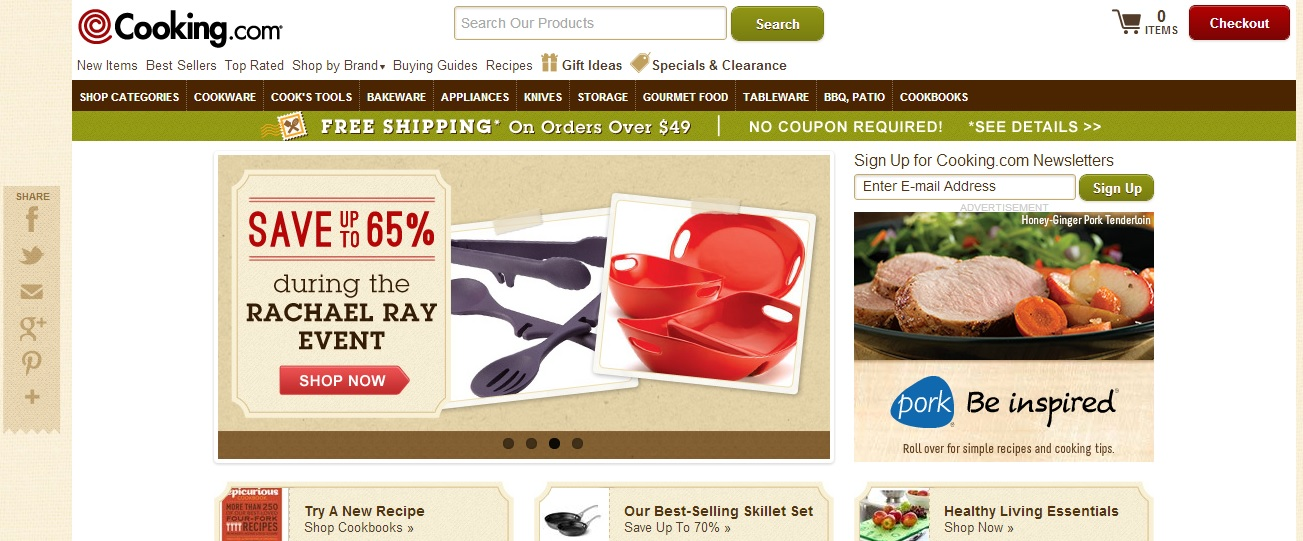 Cooking.com has a wide range of items. Photo: Cooking.com