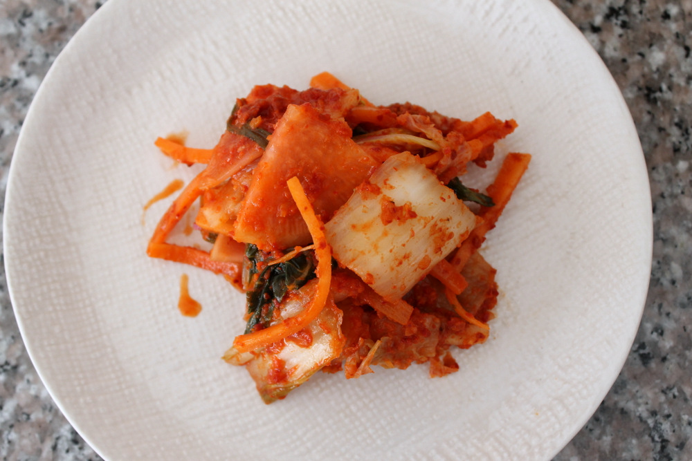 DIY seasonal kimchi with radishes and carrots. Photo: Kate Williams