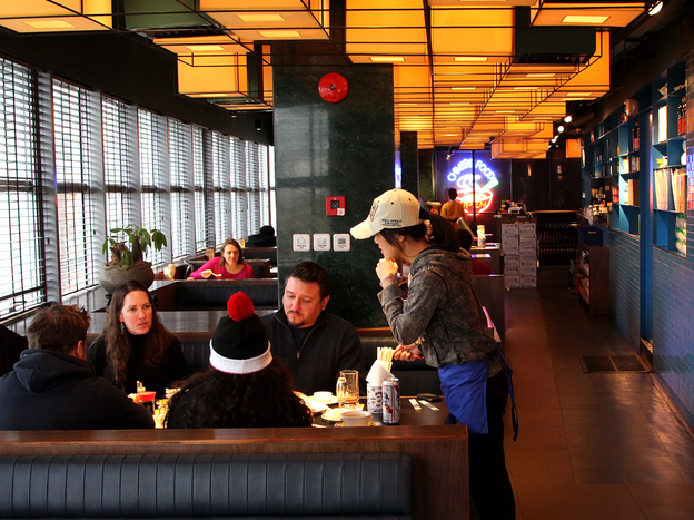 The majority of patrons at Shanghai's Fortune Cookie restaurant are foreigners, particularly Americans who crave the American-Chinese food they grew up with but can't find in China. (Frank Langfitt/NPR)