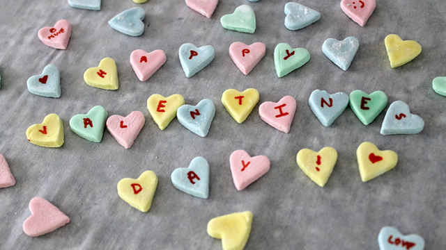 DIY Conversation Hearts are a Fun Project for Valentine's Day