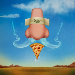We didn't make this up: The scientists who performed the study on how cannabis triggers the munchies through the sense of smell commissioned an artist to put this illustration together. Image: Charlie Padgett/Courtesy of Giovanni Marsicano
