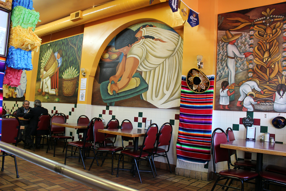 Murals adorn Chava's interior. Photo: Wendy Goodfriend