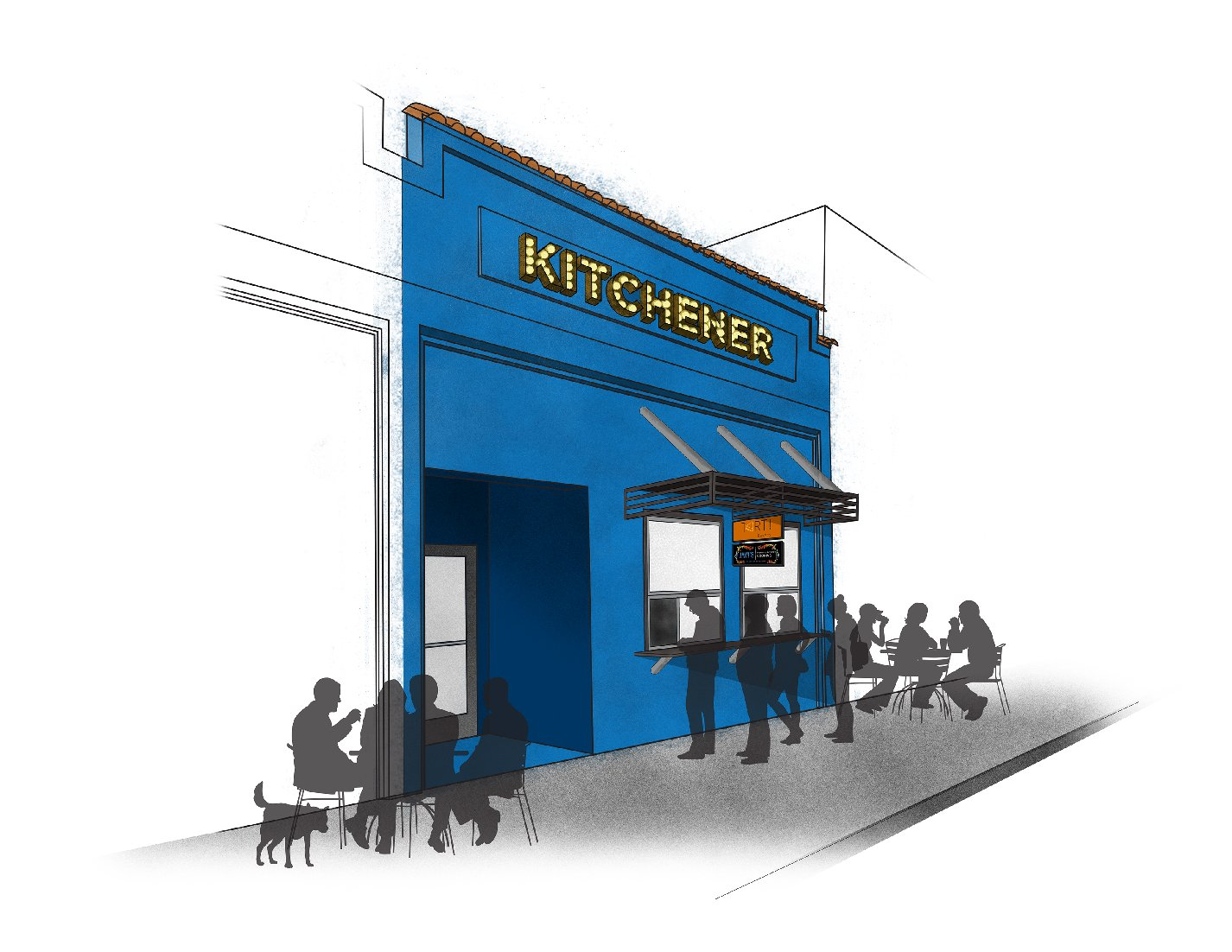 Rendering of what the Kitchener take-out windows will look like. Photo: Courtesy of Kitchener