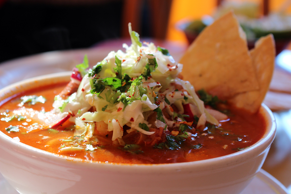 Gallardo's pozole. Photo: Wendy Goodfriend