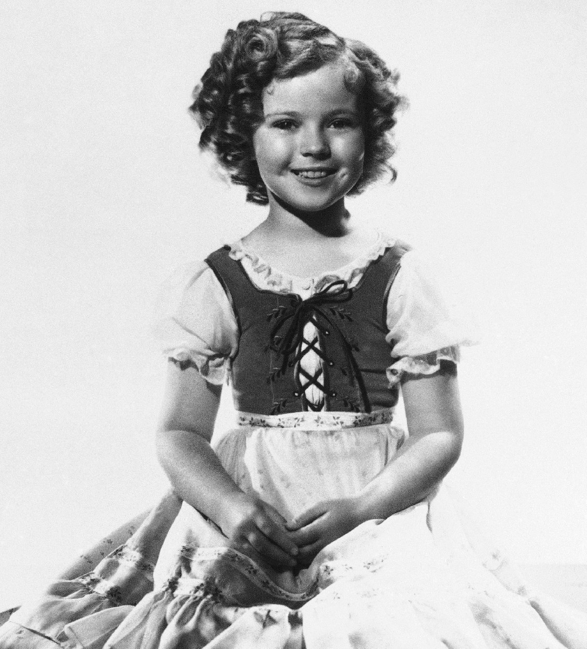 Shirley Temple when she was the nation's biggest movie star. Photo: AP