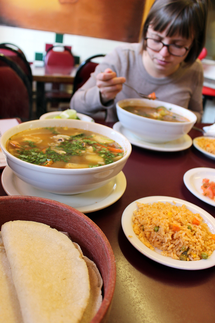 Tortillas, Rice and Soups. Photo: Wendy Goodfriend