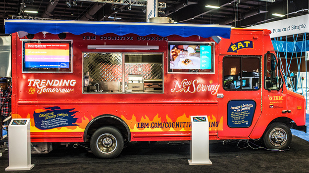 Watson's culinary concoctions were served up from an IBM food truck at a tech conference in Las Vegas last week. Next stop: Austin. Photo: IBM Research/Flickr